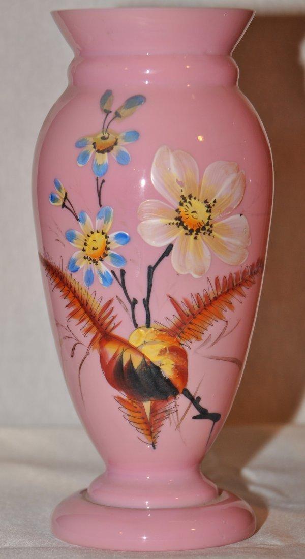 18: Pair of opaline vases