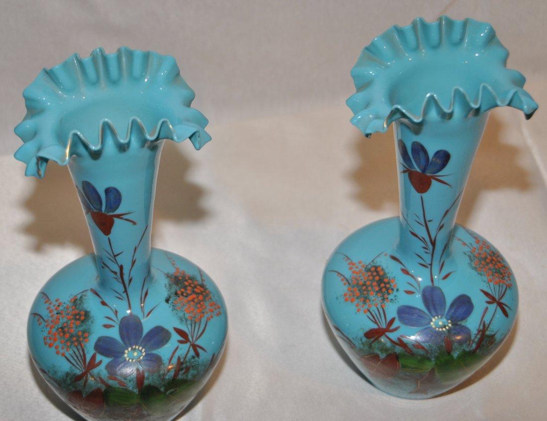 19: Pair of opaline vases