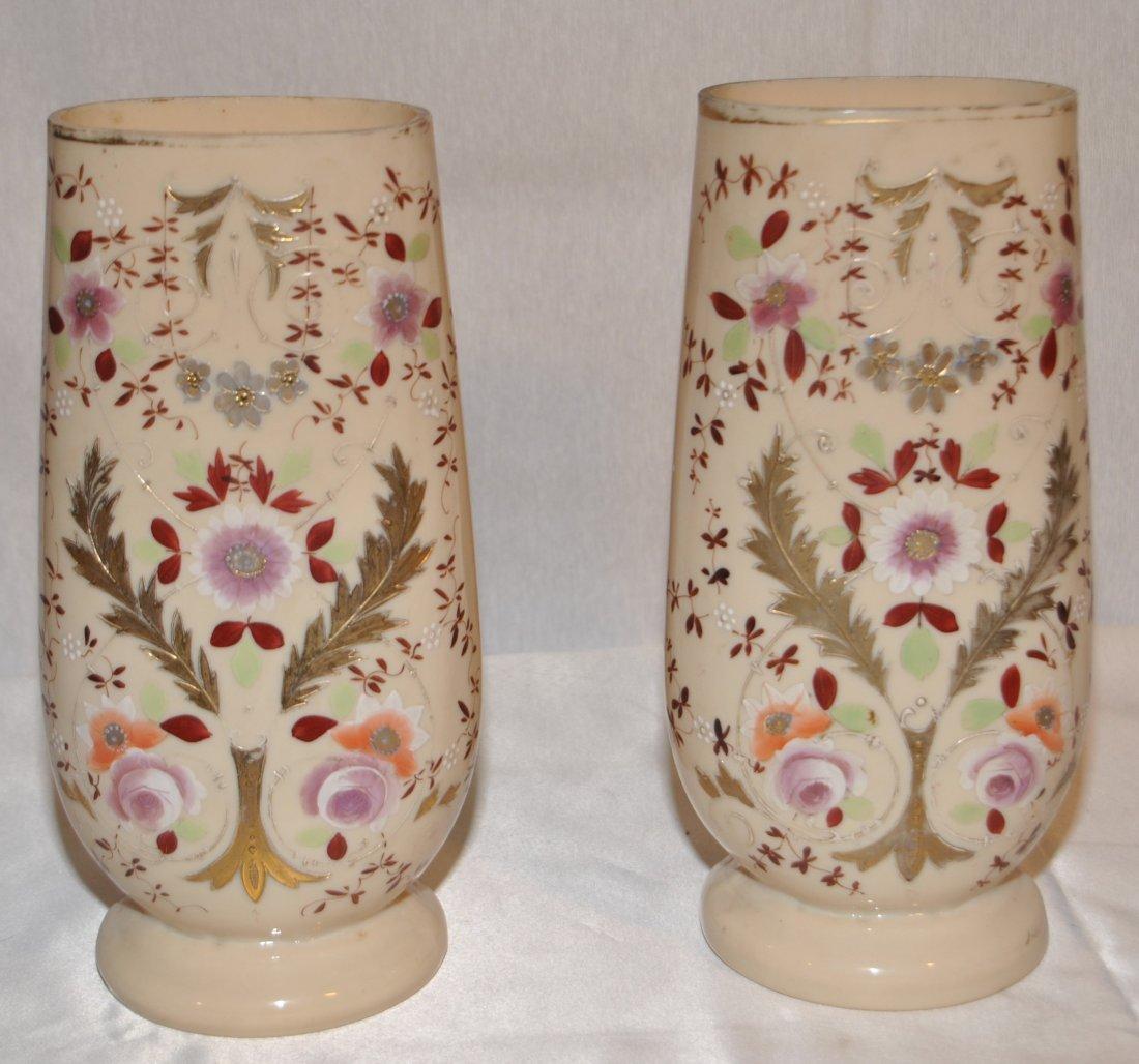20: Pair of opaline vases