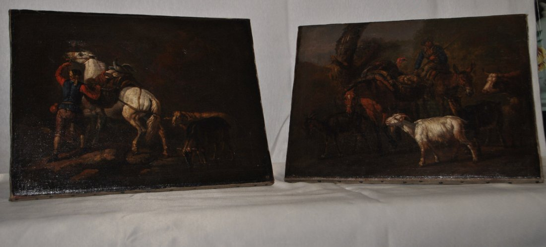 62: Pair of italian 17th cent paintings
