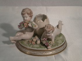 Italian Pottery Centerpiece