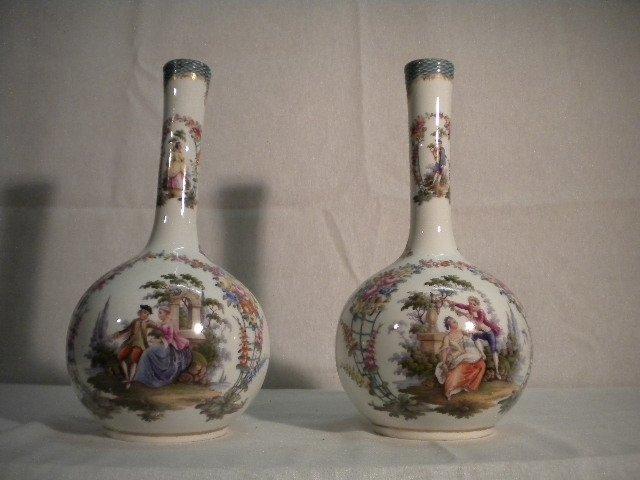3: Pair of German porcelain vases