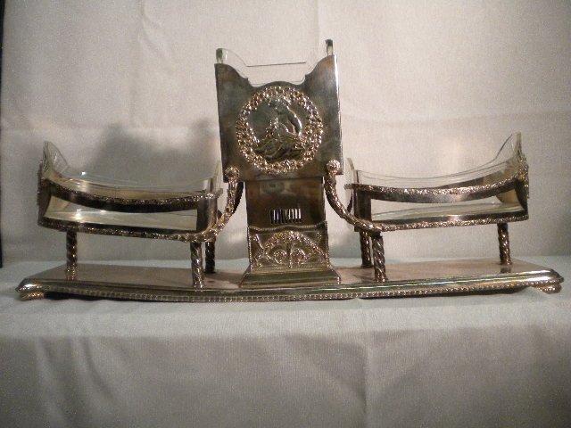 13: Silver plated decò centerpiece
