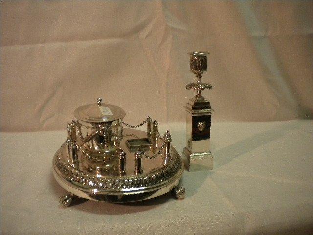 21: Scheggi silver inkstand - 3