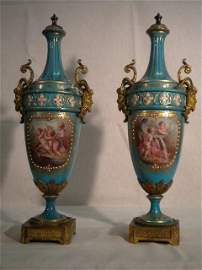 25: Pair of Sevres vases