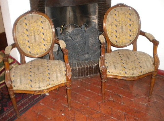 5: Pair of French armchairs Luis XVI