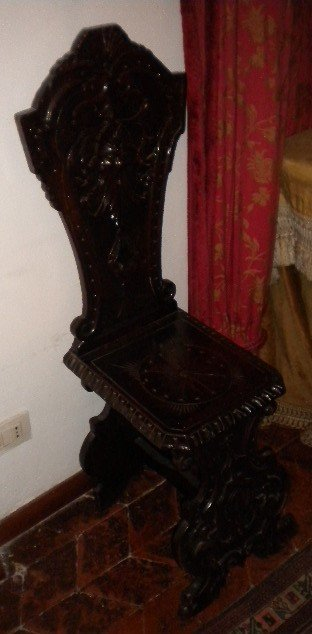 18: Pair of Renaissance style chairs