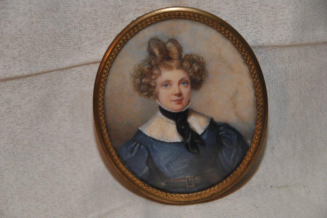 67: Ivory portrait miniature  of a lady