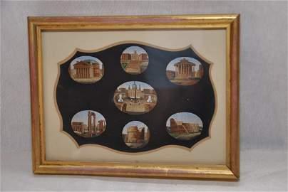 238: Micromosaic plaque seven views