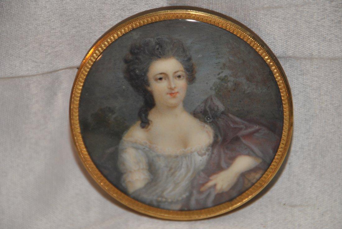 276: Ivory portrait miniature  of a lady