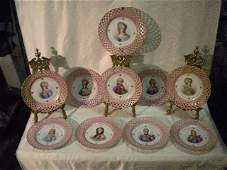 325: Set of 10 Sevres plates