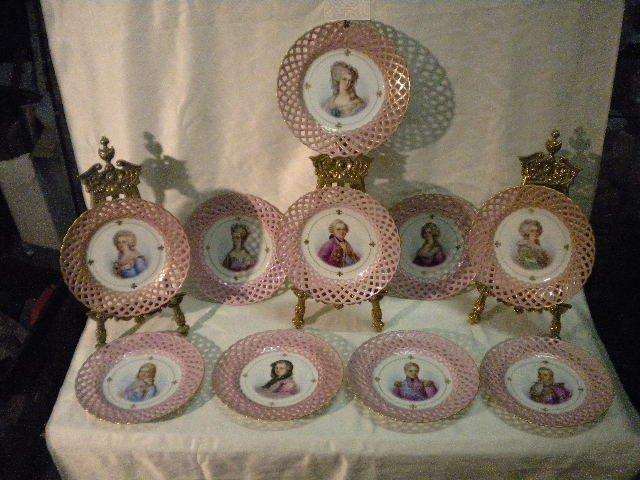 325: Set of 10 Sevres plates