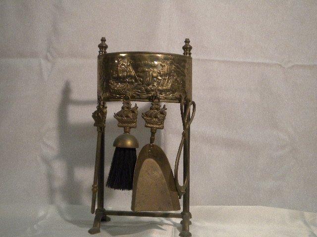 Brass set of fire irons