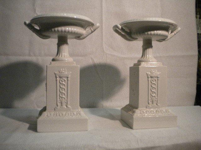Pair of pottery  garniture