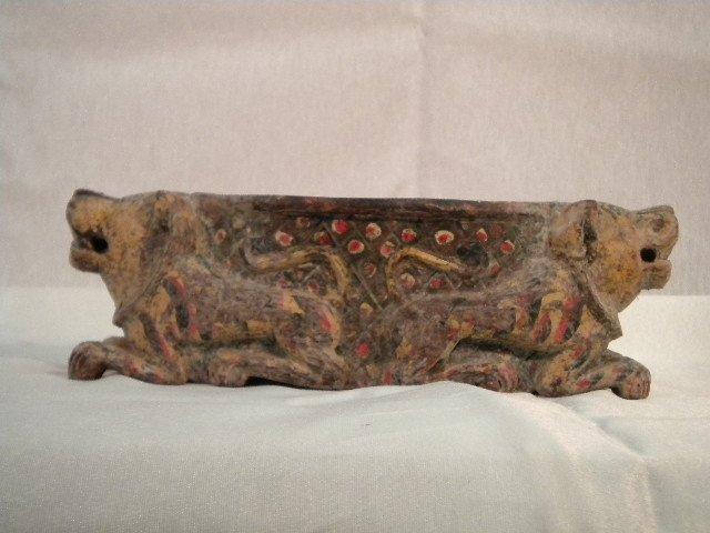 Wood orietal centerpiece