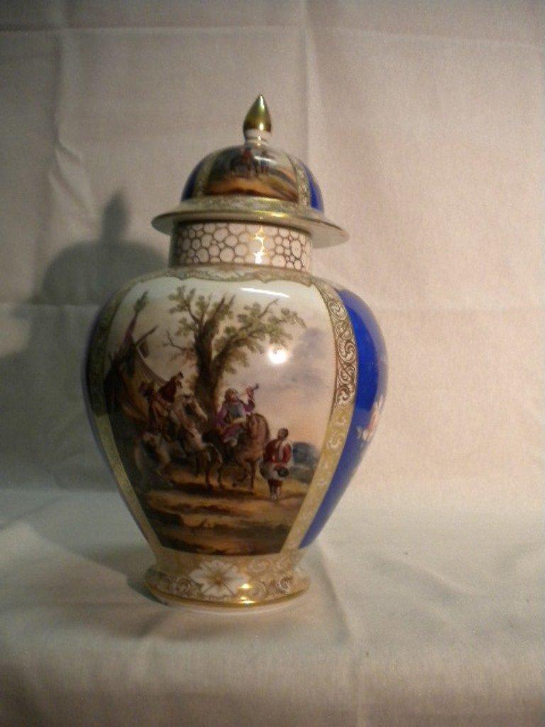 German porcelain big vase