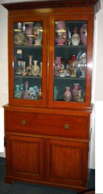 English Satinwood bookcase