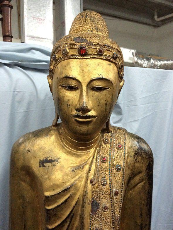 Oriental wood figure