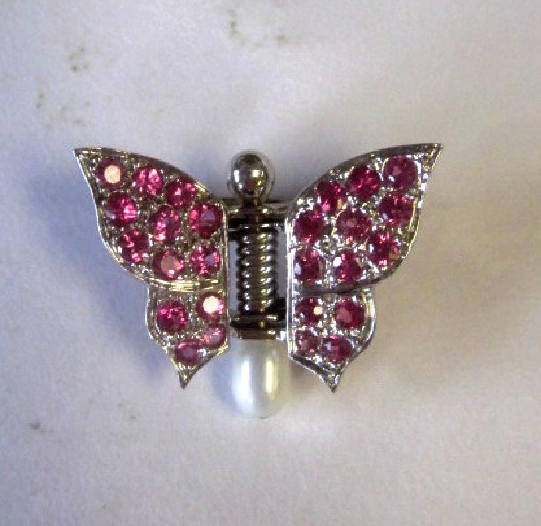 Butterfly scarf pin