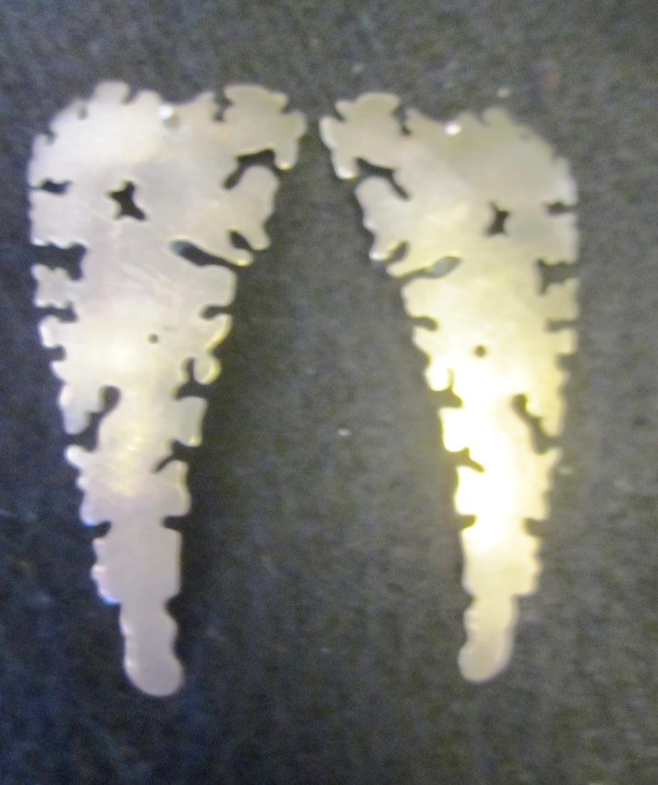 Three pairs silver earrings