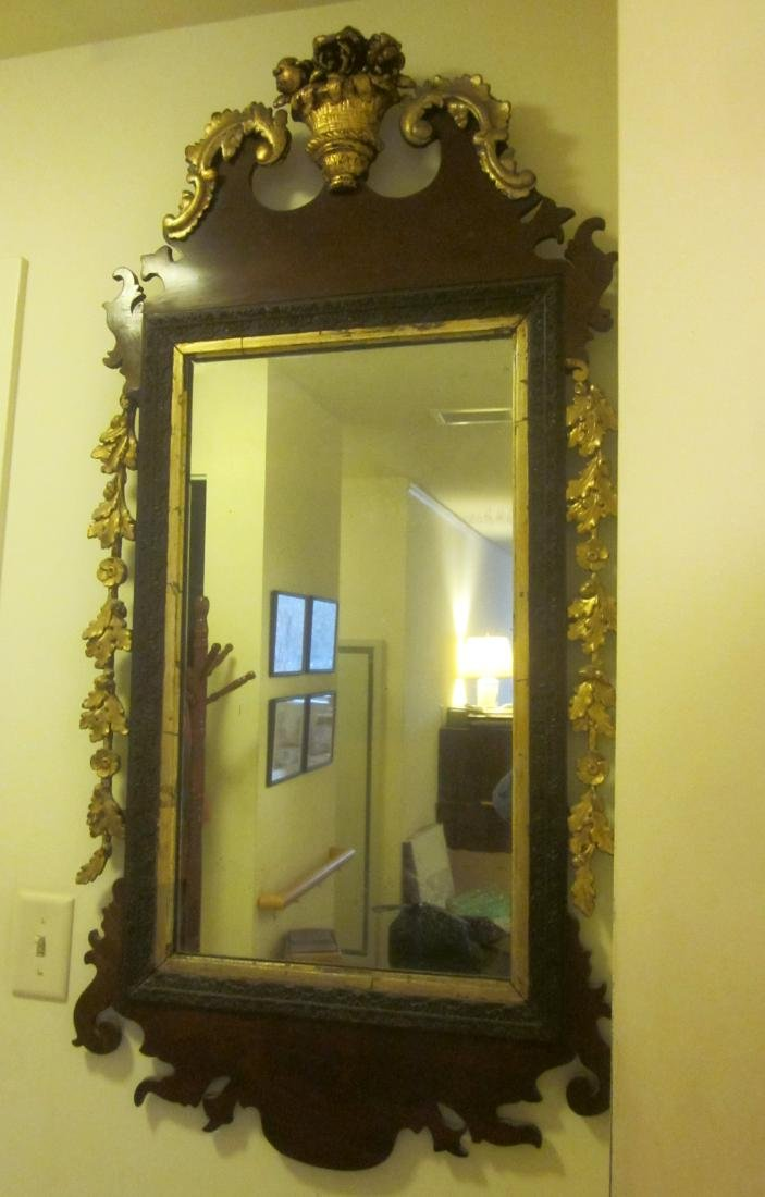 19th c Parcel Gilt Mirror