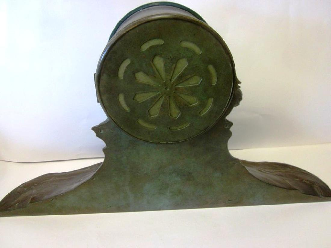 20th c  Bronze Wave Mantel Clock - 9