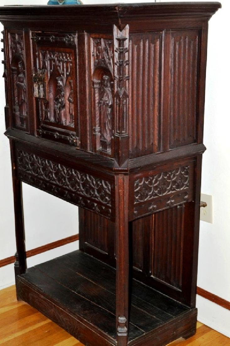 19th Century Oak Gothic Cupboard
