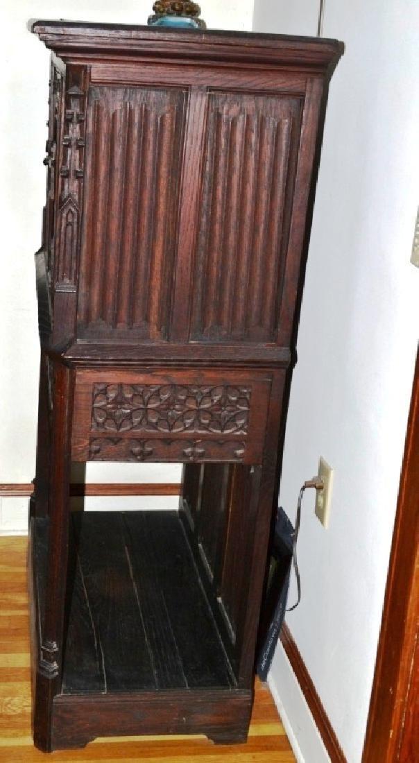 19th Century Oak Gothic Cupboard - 6