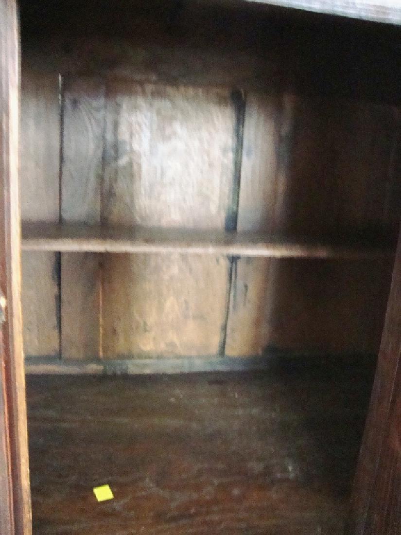 19th Century Oak Gothic Cupboard - 7
