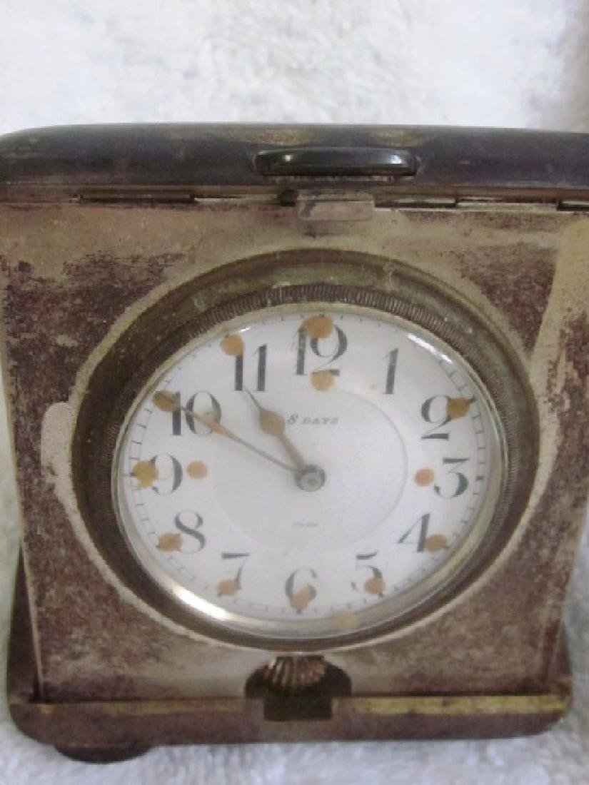 Lot of Two, 20th c Sterling Travel Clocks
