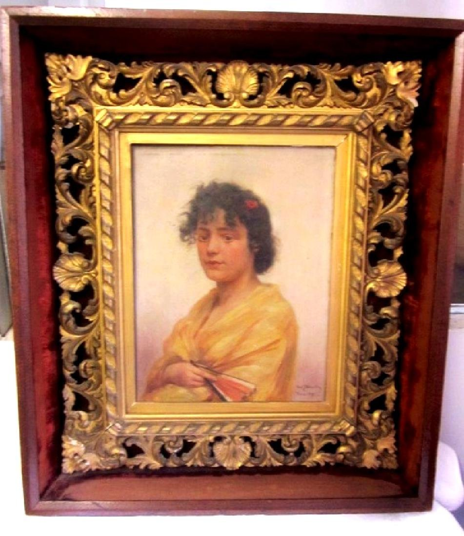 Wickenberg O/B Painting with Foster Frame