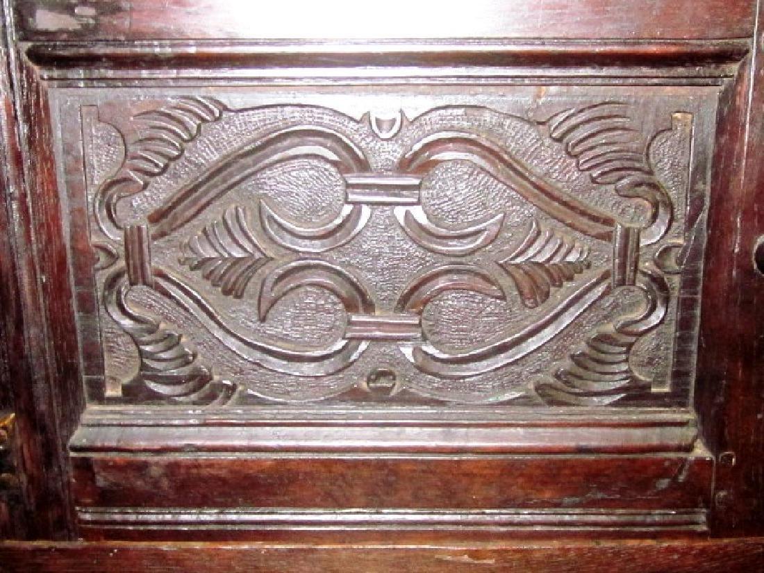 18th c  Oak Court Cupboard - 6