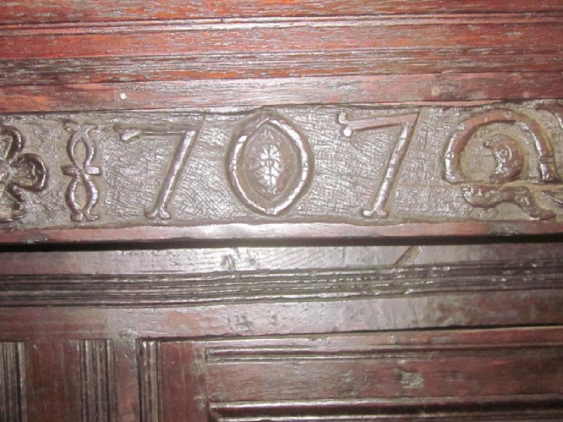 18th c  Oak Court Cupboard - 8