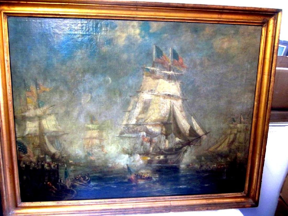 Walter Lansil O/C Painting of Constitution