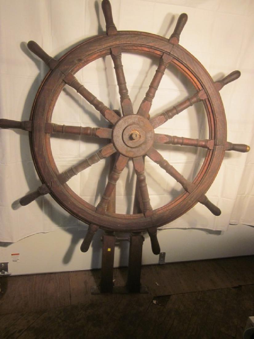 19th c Nautical Ship's Wheel