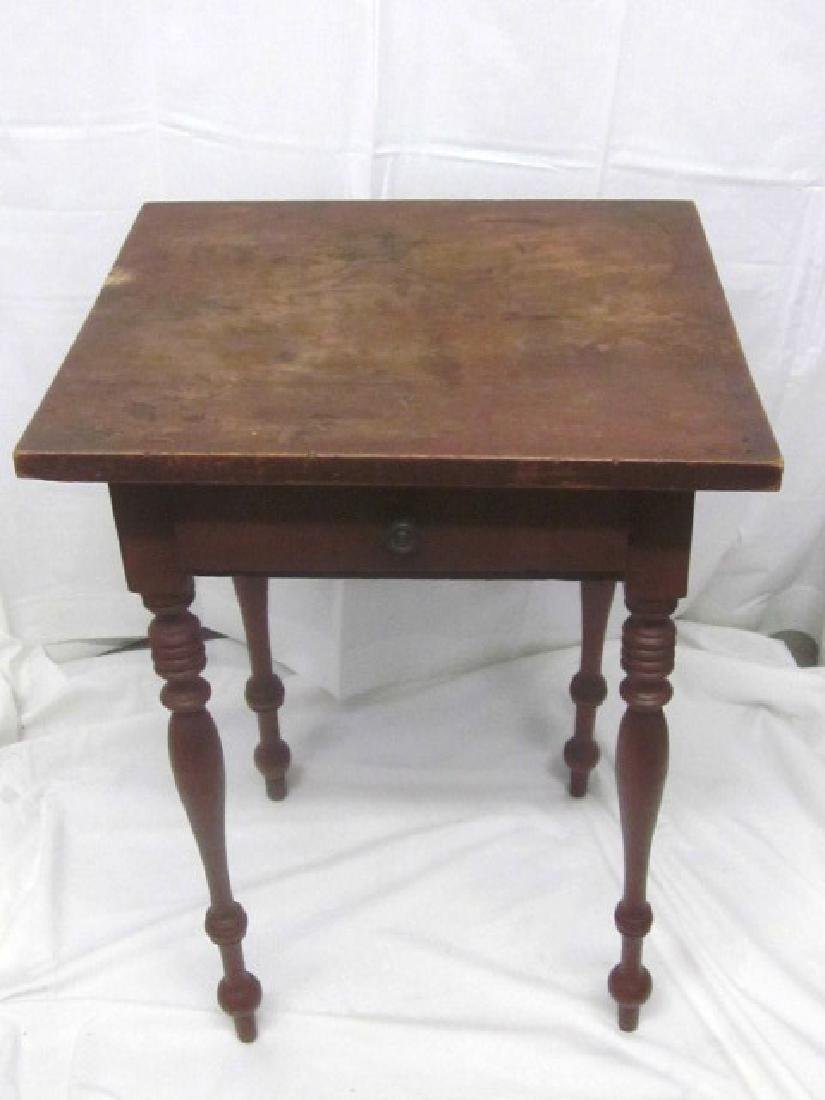 19th c Light Stand w/ 2 Drawer's