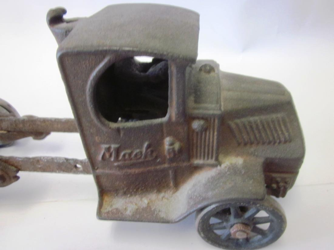Toy Cast Iron Mack Truck - 2