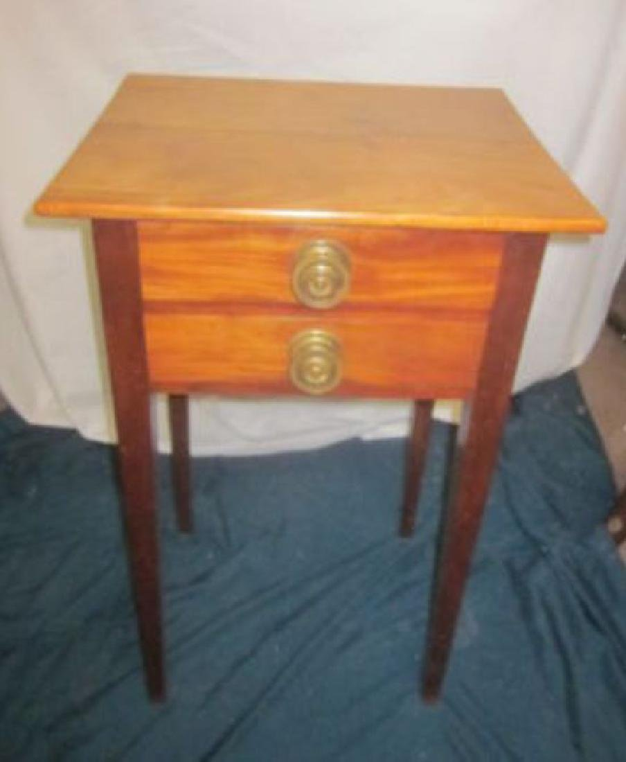 19th c 2 Drawer Stand