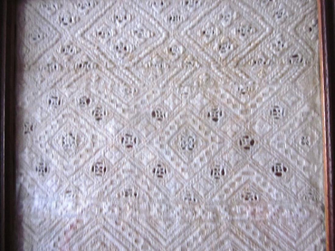 19th c Sampler, White Needlework - 2