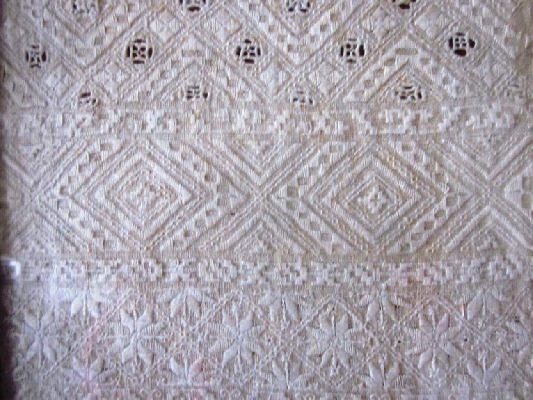 19th c Sampler, White Needlework - 3