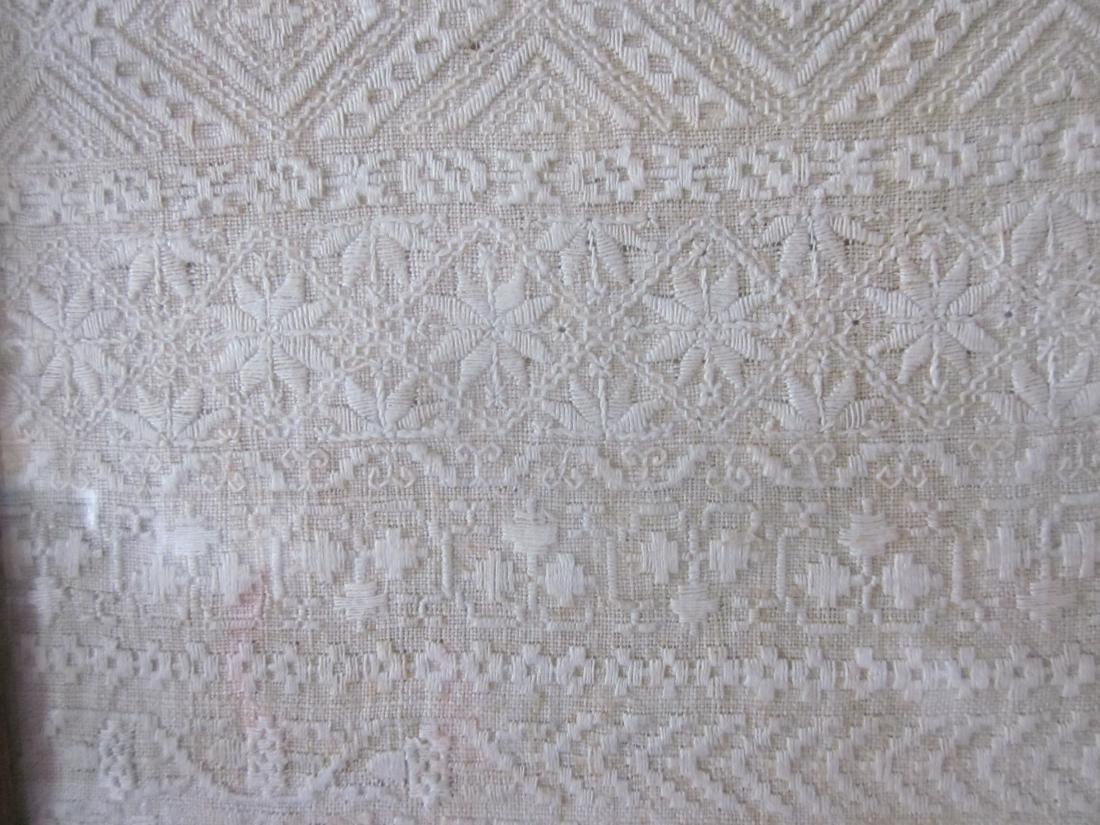 19th c Sampler, White Needlework - 4