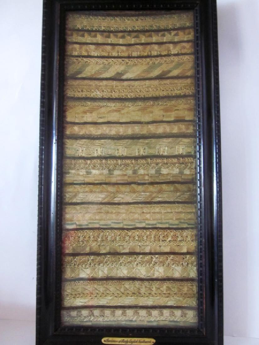 19th c Sampler Needlework