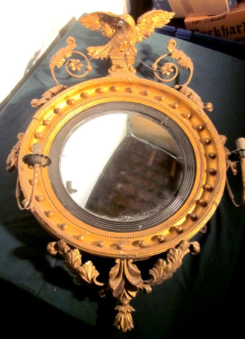 19th c American Girandole Mirror