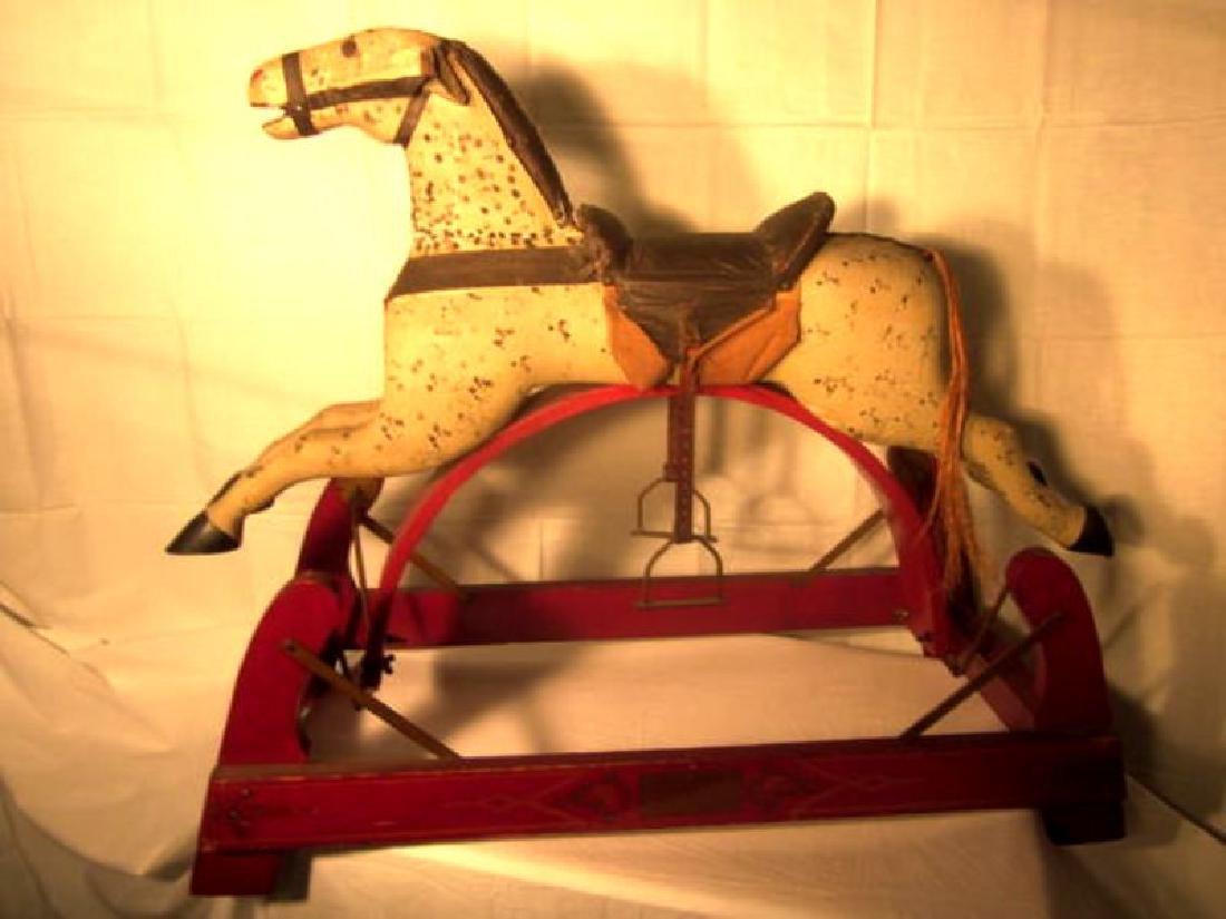 19th c Childs Rocking Horse
