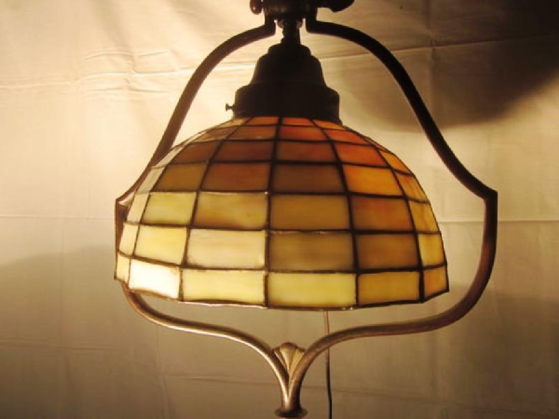 20th c Handel Bronze Floor Lamp w/Handel shade - 3