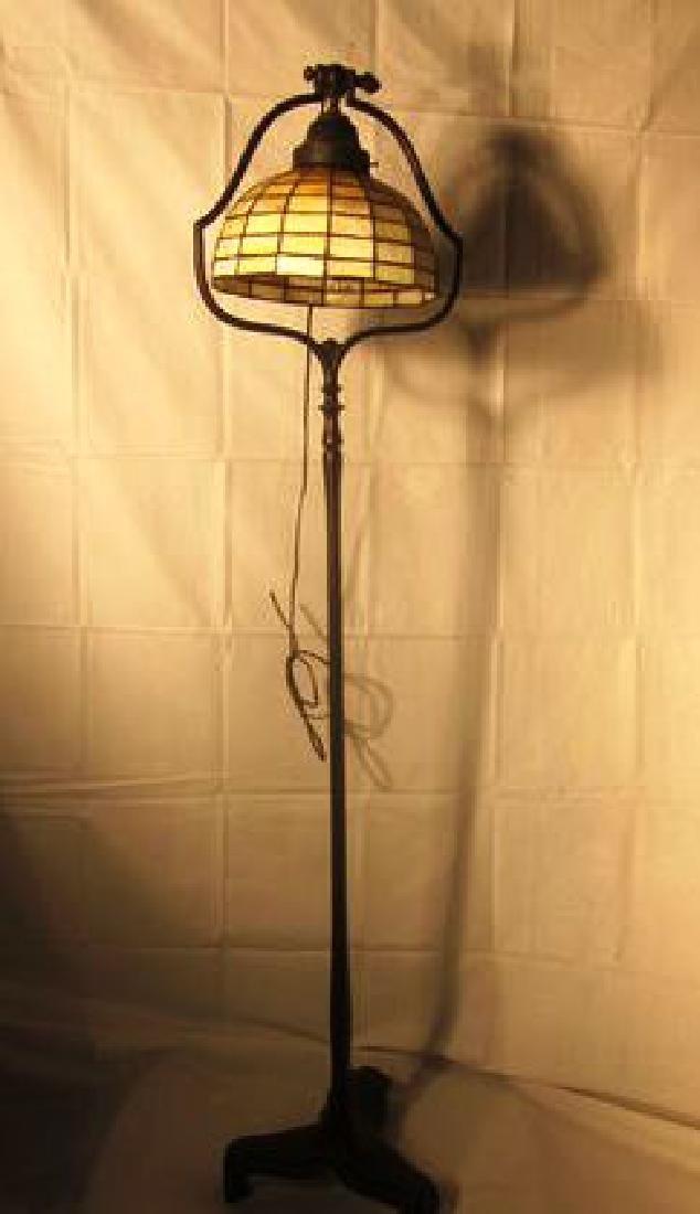 20th c Handel Bronze Floor Lamp w/Handel shade - 4