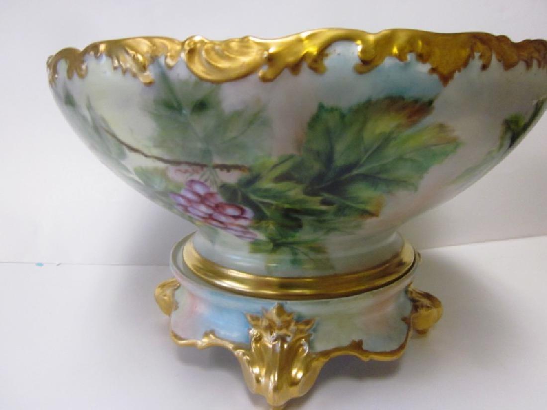 Limoges Porcelain Punch Bowl w/Base