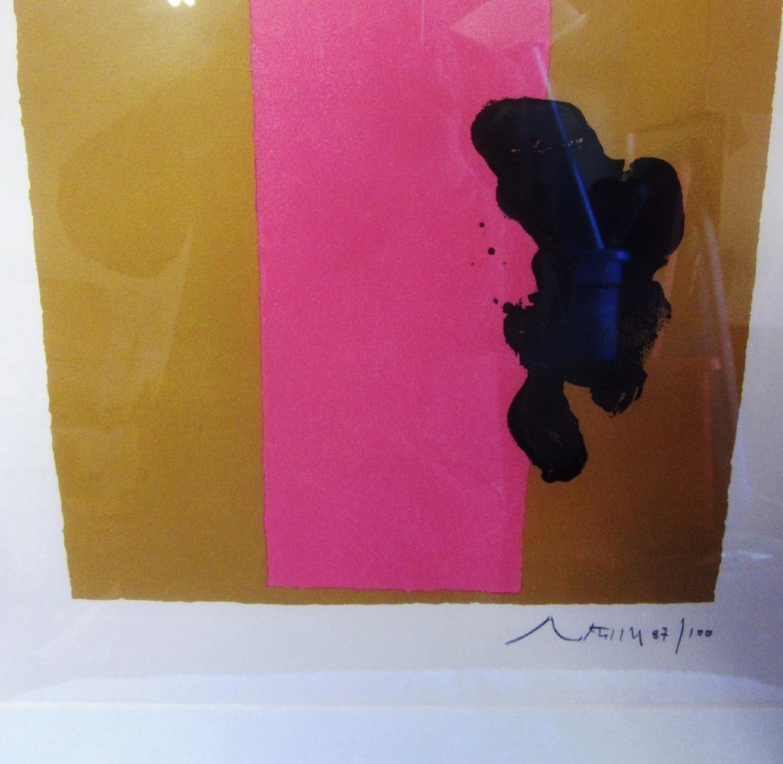 3 Color Silkscreen Motherwell litho 87/100