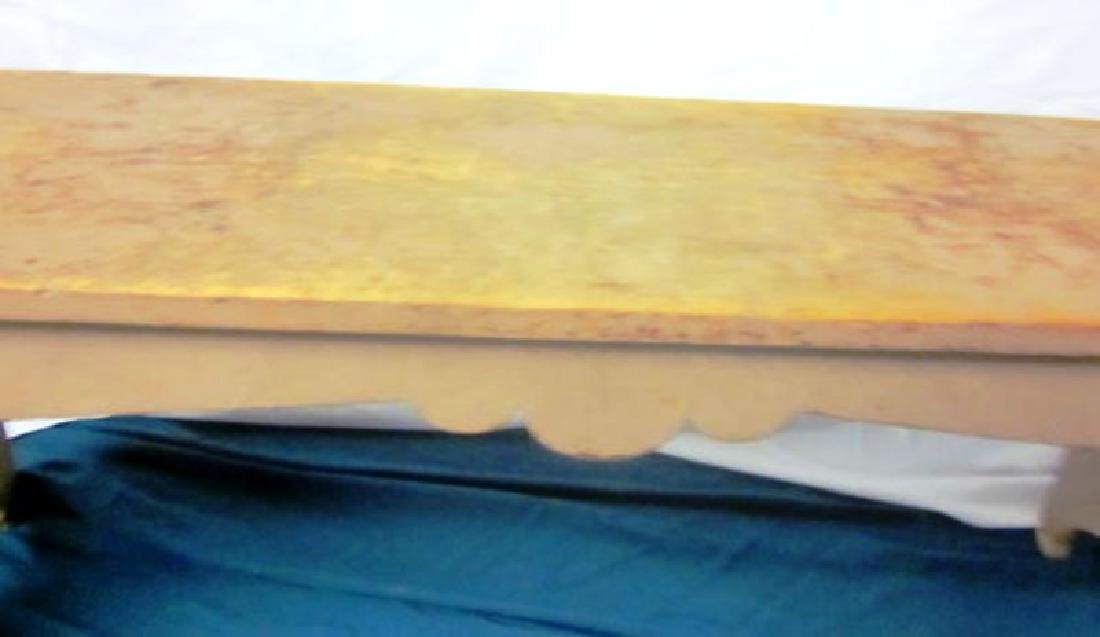 19th c Primitive Bench in Salmon Paint - 2