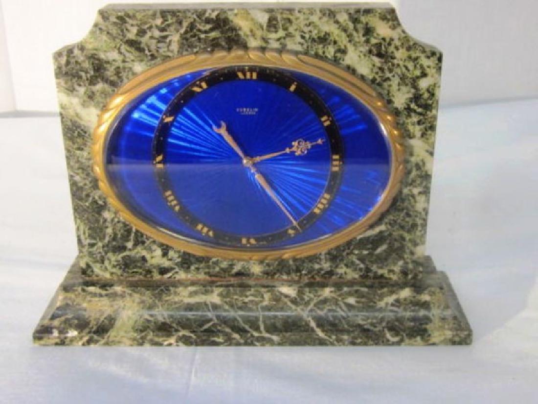 2 x Enameled Gubelin Desk Clocks